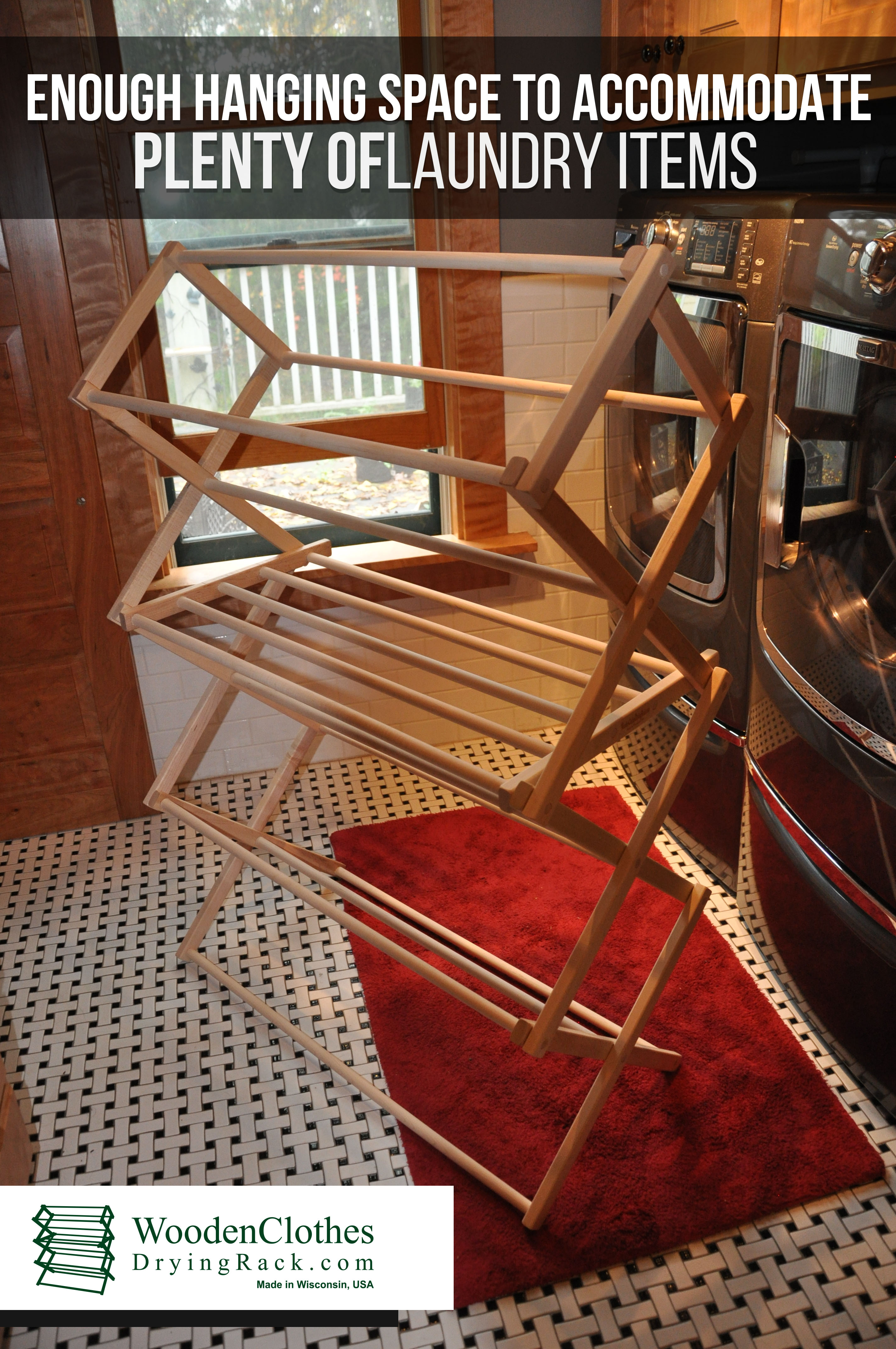 Wooden Clothes Drying Rack Wooden Clothes Drying Rack